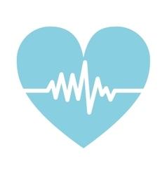 cardio pulse heart vector image