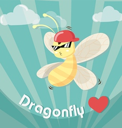 dragonfly boy cool vector image vector image