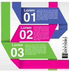 Origami banner in three step EPS10 vector image vector image