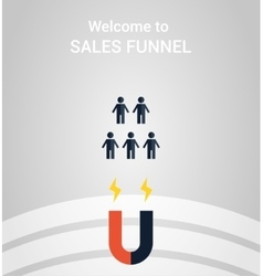 sales funnel concept vector image vector image