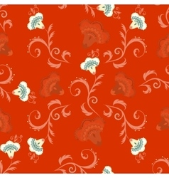 Seamless indian style pattern with oriental vector image