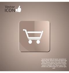 Supermarket trolley button vector image