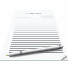 contract and pen vector image vector image