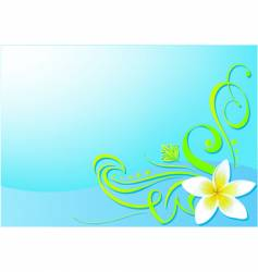 floral bg vector image vector image