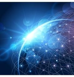 Global network background vector image vector image