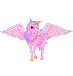 Unicorn Pegasus vector image vector image