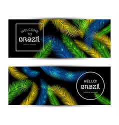 Welcome to Brazil vector image vector image