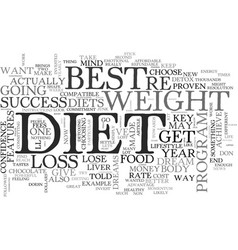 best diet key features your diet must have for vector image vector image