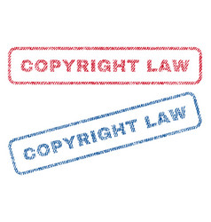 copyright law textile stamps vector image