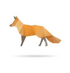 Fox abstract isolated on a white backgrounds vector image vector image