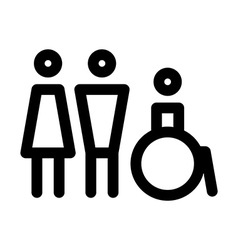 Man women and disabled sign vector image