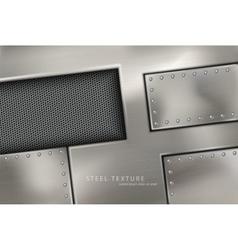 riveted steel rivets and screws metal vector image