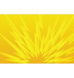 Yellow cartoon blast background vector image vector image