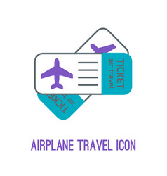 airplane travel vector image vector image