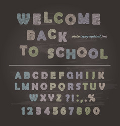 chalk font design on the chalkboard background vector image