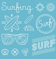 set of surfing logos vector image vector image