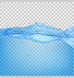 transparent water wave vector image vector image