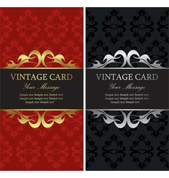 Vintage cards vector image