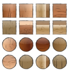 A set of wooden buttons vector image