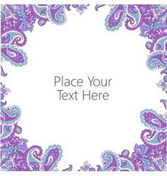 Abstract paisley frame vector image