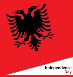 Albania independence day vector