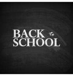 back to school educational with blackboard texture vector image