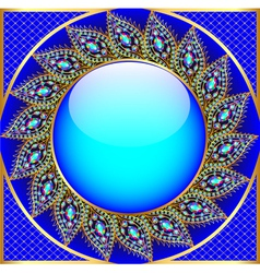 background round frame with the ornament vector image