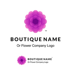 Beautiful Logo with Lilac Flower for Boutique or vector