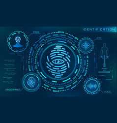 Biometric identification personality scanning vector