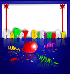birthday background with colorful balloons vector image