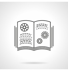 Book on physics flat line icon vector image