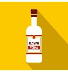 Bottle of vodka icon flat style vector