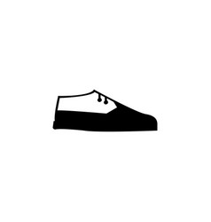 brogue leafers shoes icon vector image