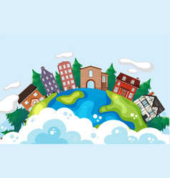 building on earth vector image