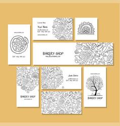 Business cards design idea for bakery company vector