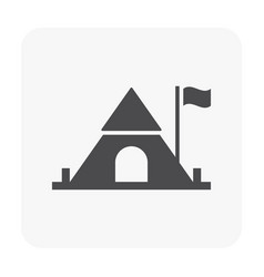 camping icon black vector image