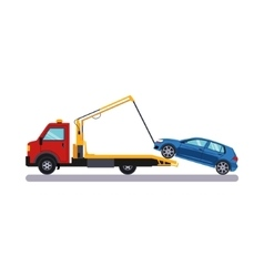Car and Transportation Towing vector