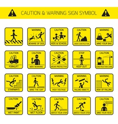 Caution and Warning Signs in Public Construction vector