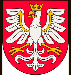 Coat of arms of lesser poland voivodeship in vector