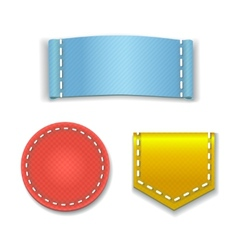 Collection of Colorful Blank Labels or Badges With vector image