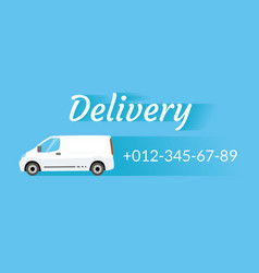Delivery van vector