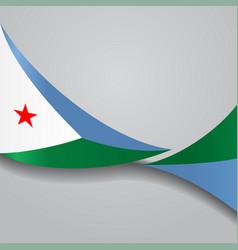 Djibouti wavy flag vector