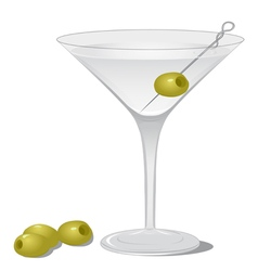 Dry Martini vector image