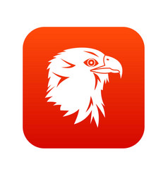eagle icon digital red vector image
