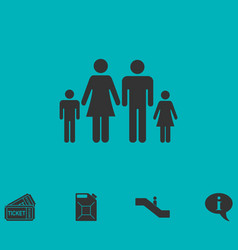 family icon flat vector image