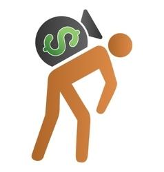 Financial Courier Gradient Icon vector