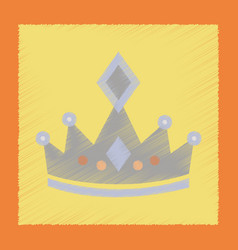 flat shading style icon crown royal vector image