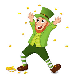 Funny cartoon leprechaun for saint patrick day vector