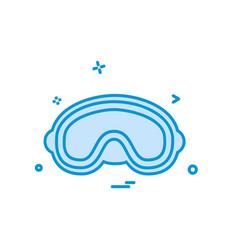 goggles icon design vector image