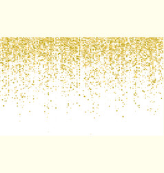 Golden confetti falling on white holiday vector